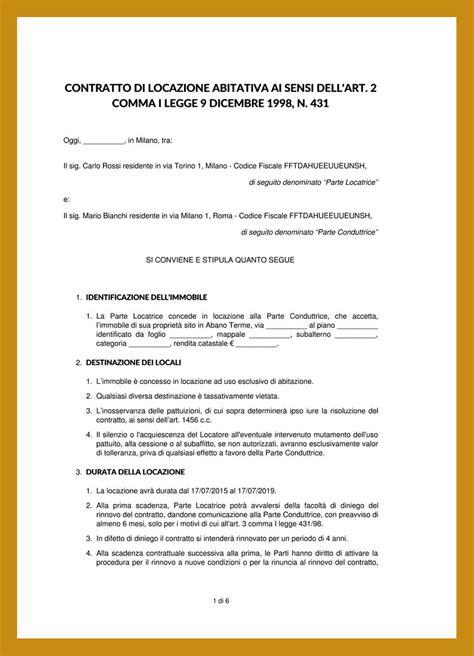 contratto affitto appartamento arredato fac simile contratto affitto certificazione energetica