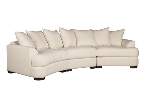 Modern Leather Sectional Curved White Fabric F Sofa White Curved Sofa