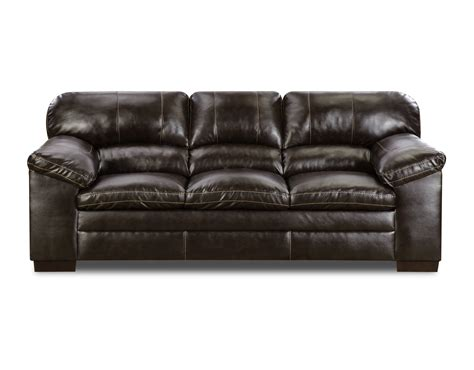 simmons sofa warranty simmons dylan faux leather sofa bingo brown shop your