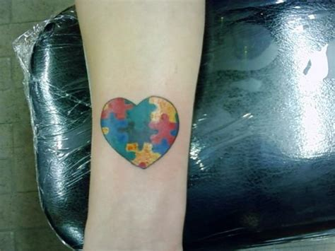 heart puzzle tattoos
