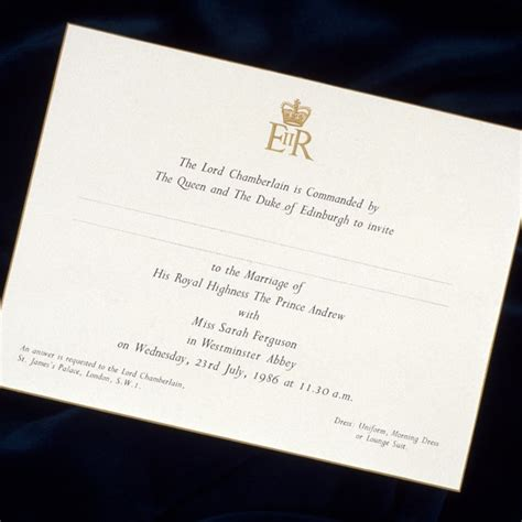 Meghan Markle Wedding Invitation