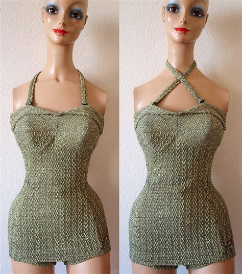 knitted bathing suits 17 best images about vintage knitted swimwear on