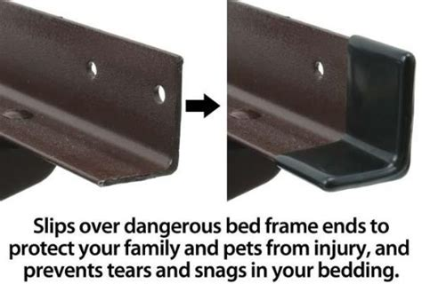 Metal Bed Frame Bumpers 1 1 2 Quot Gashguards Deluxe Plastic Bed Frame End Caps Sheet Savers Set Of 2 Furniture Beds