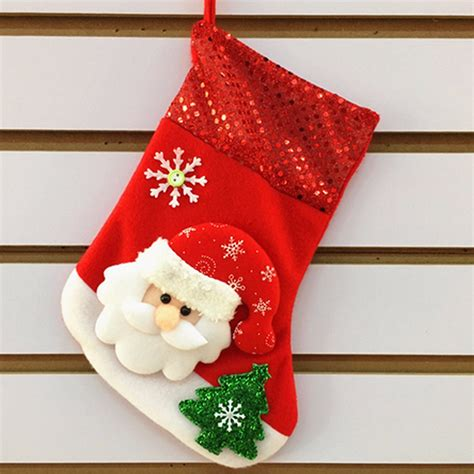 christmas gift socks bags santa claus deer bear snowman