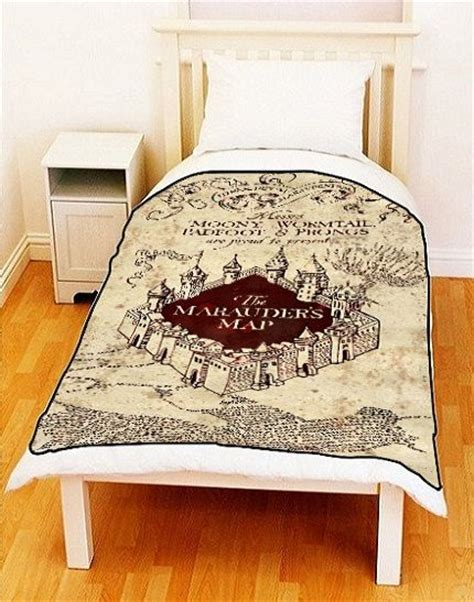 harry potter bed sheets fleece blanket marauders map harry potter fleece by