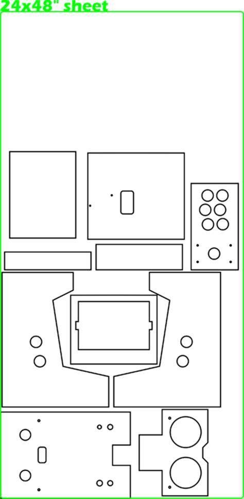 mini arcade cabinet plans image mag
