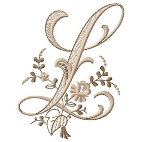 l design gunold embroidery design monogram l 4 30 inches h x 3 36