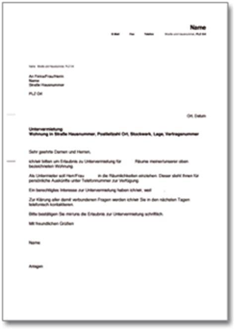 Brief Wohnungsbewerbung Muster Dehoga Shop Schreiben An Vermieter Mit Bitte Um Untervermietung Kaufen