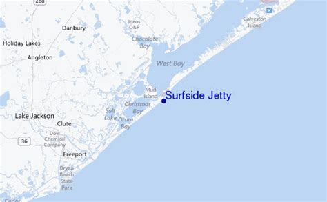 surfside texas map surfside jetty surf forecast and surf reports texas usa