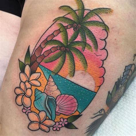 tropical beach tattoo designs best 25 tropical ideas on palm tree