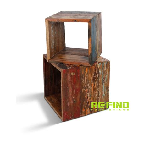 reclaimed boat wood furniture recycled boat wood cubes indonesian recycled and