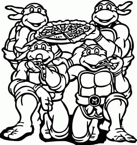Ninja Turtle Coloring Pages Free Printable High Quality High Quality Coloring Pages