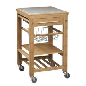 kitchen cart with granite top wood natural linon home