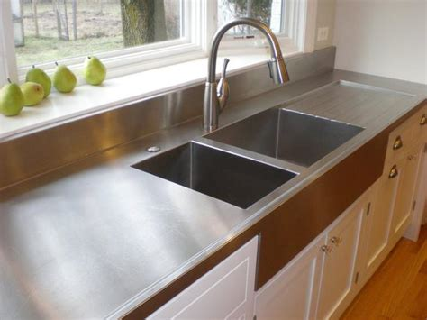 Stainless Steel Countertop Paint by A Guide To 7 Popular Countertop Materials Diy Kitchen