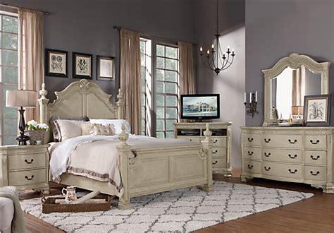 7 pc bedroom set cortinella white 7 pc queen poster bedroom bedroom sets