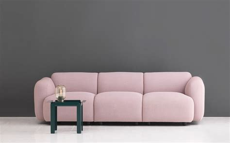 curvy scandinavian design with an edge swell sofa 3 seater