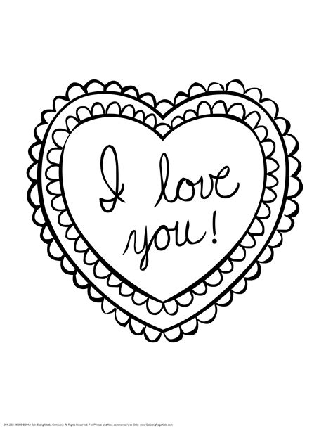 i love you heart coloring page heart coloring pages for teenagers love you heart