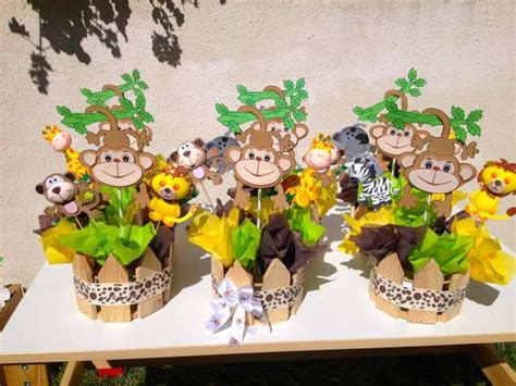jungle theme baby shower centerpieces x 10 baby showers