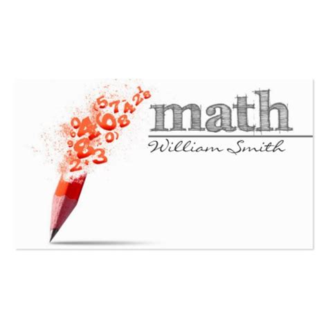 Math Business Card Template by Create Your Own Mathematical Business Cards