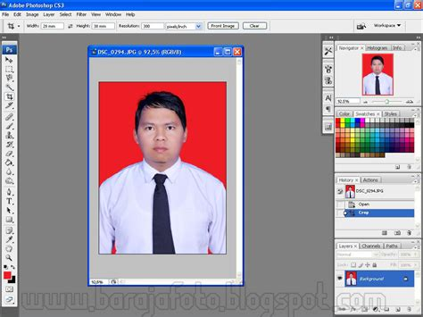cara edit foto resmi di photoshop cara mudah mengganti background pas foto belajar photo
