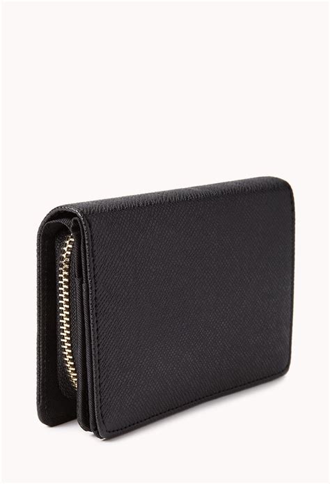 small wings wallet black forever 21 iconic small faux leather wallet in black lyst