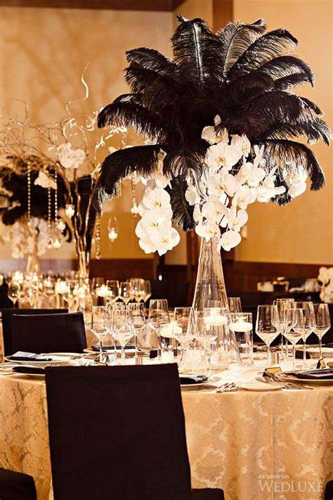 black feather centerpieces 55 eye catching feather wedding ideas for 2016