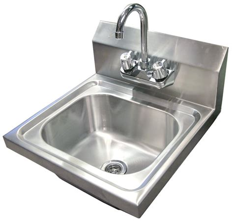 commercial kitchen sink faucets omcan nsf commercial stainless steel hand washing sink