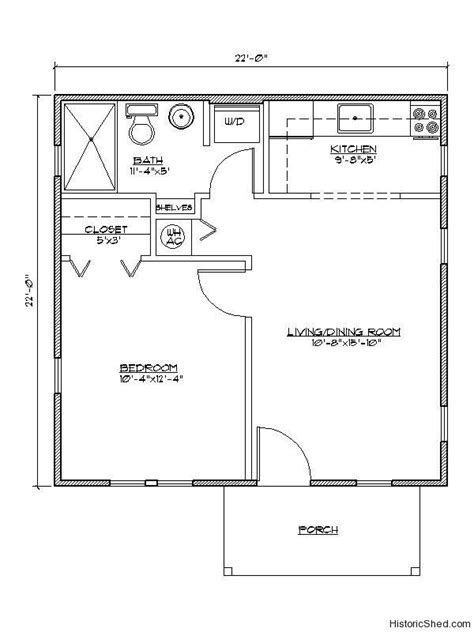 1 bedroom guest house floor plans lots of cottage floor plans and exterior photos this one