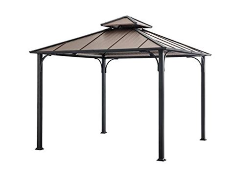 hardtop gazebo 10x10 sunjoy 10 x 10 hardtop gazebo faux copper top gazebos