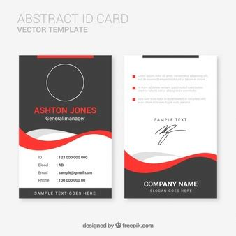Id Card Template Illustrator by Wave Vectors Photos And Psd Files Free
