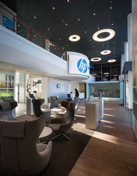 interior design company profile usa hp madrid s new reception and lobby office snapshots