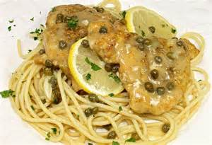 Light Cream Sauce Chicken Piccata With Spaghetti Back Road Journal