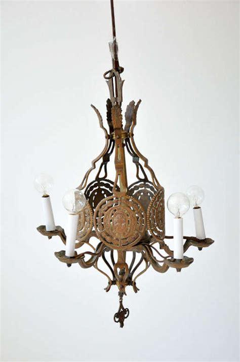 Solid Brass Chandelier Antique Solid Brass Chandelier At 1stdibs