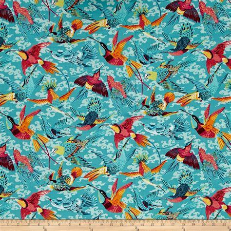 tropical home decor fabric world tropical birds tropical discount designer