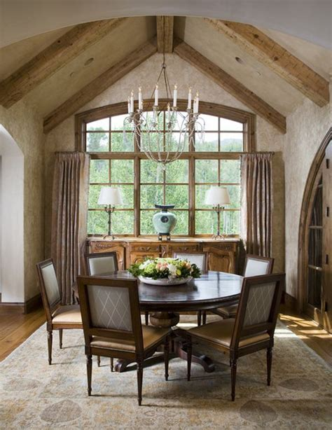 Rustic Chandeliers Wood 13 Cozy And Inviting Country Style Dining Rooms