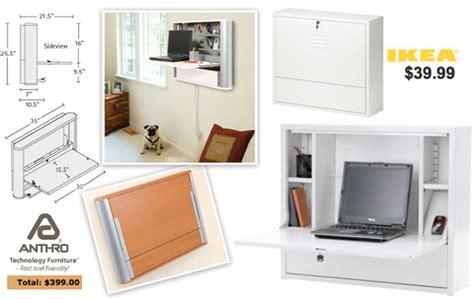 wall mounted hideaway desk anthro enook vs ikea ps notcot