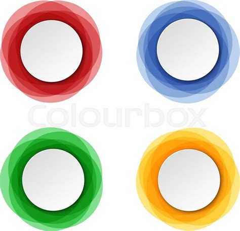 Set of round colorful vector shapes. Abstract vector ...