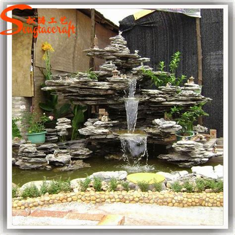decorative waterfalls for home hot sale molds for modern wall fountain garden decorative