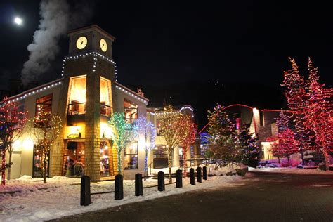 christmas lights in whistler village british columbia