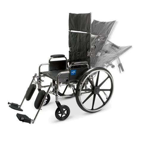 medline reclining wheelchair excel reclining wheelchair desk length removable arms