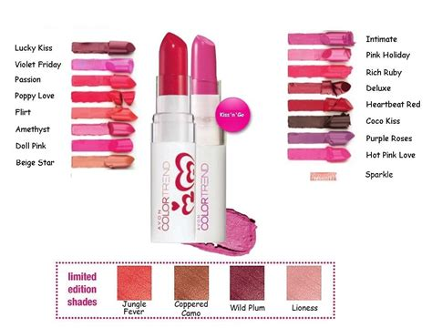 colour trend avon color trend kiss n go lipstick various shades