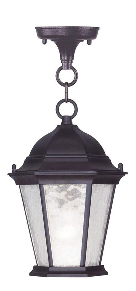 Hamilton Lighting Fixtures Hamilton Bronze 1 Light Livex Outdoor Chain Hang Lighting Fixture L 7559 07 Ebay