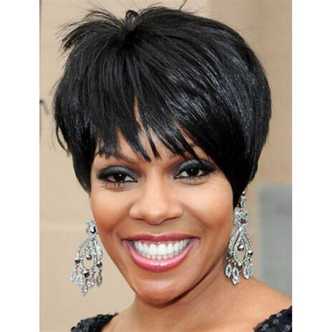 hairstyles for women over 60 african american short straight hair wig hairstyles for african american