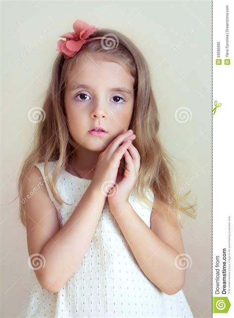 little cherish young models pics gallery little girl s portrait tender serious child fashion model
