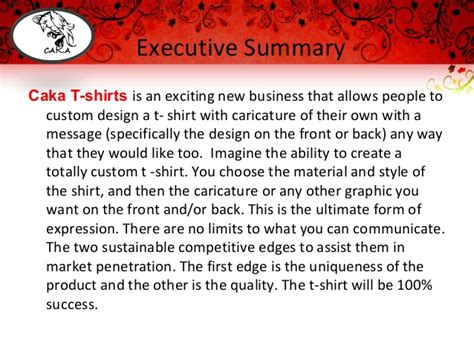 t shirt company business plan template caka t shirts new business plan