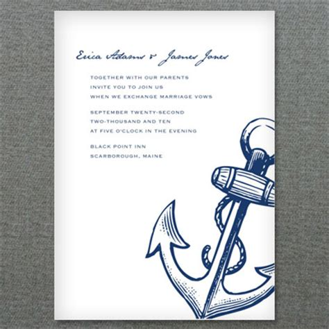 nautical stationery template nautical anchor printable invitation template