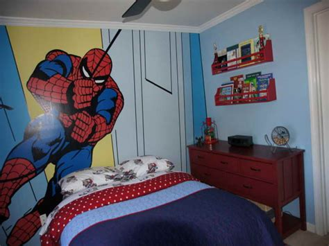 spiderman wall kids bedroom paint ideas ashton kids