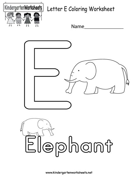 letter e preschool printable activities free printable letter e coloring worksheet for kindergarten