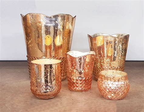 Gold Glass Candle Holders by Best 25 Gold Votive Candle Holders Ideas On