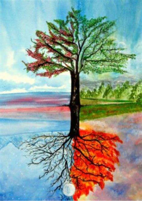 Painting 4 Seasons my four season tree acrylic painting